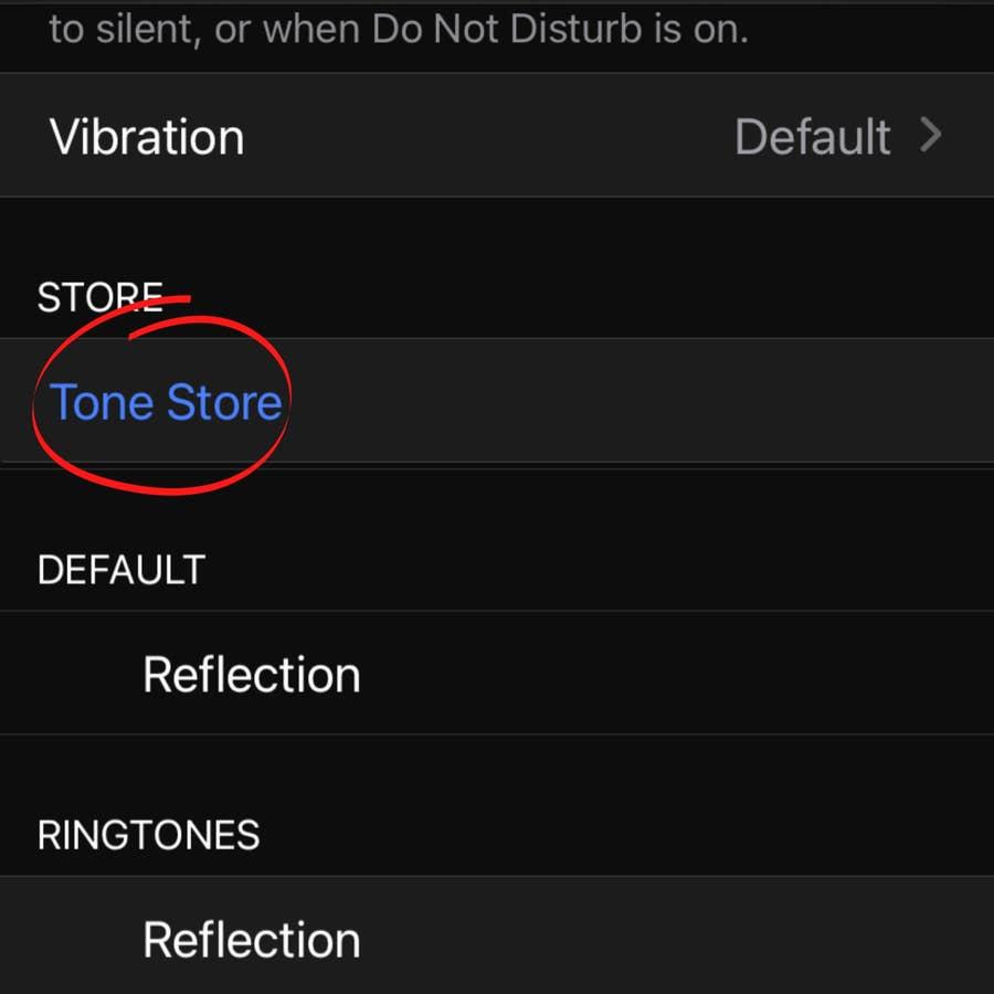 "Click ""Tone Store"""