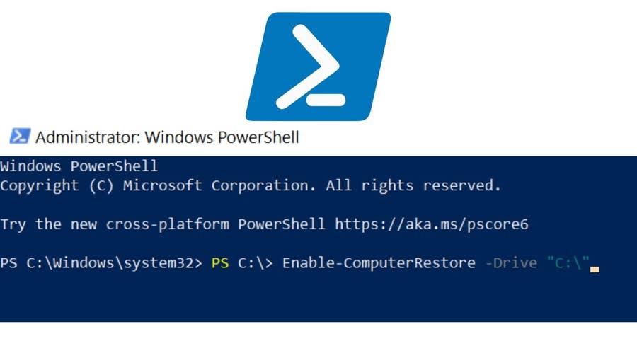 Create a Windows restore point using PowerShell