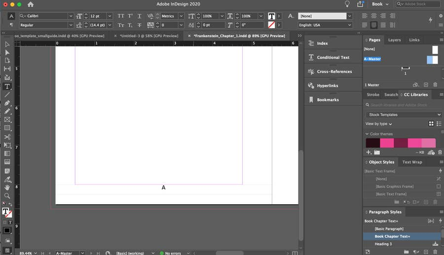 Page Number on Master Page InDesign