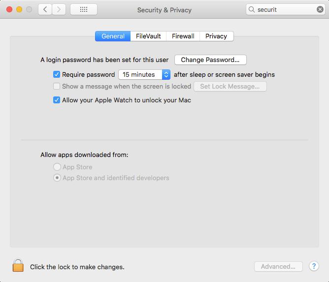 Enable Apple Watch unlock