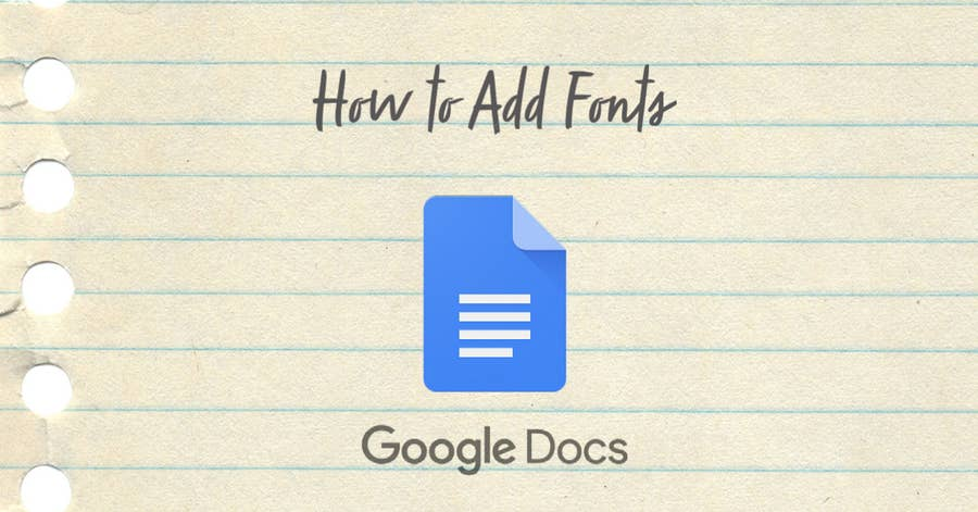 how to add fonts google docs