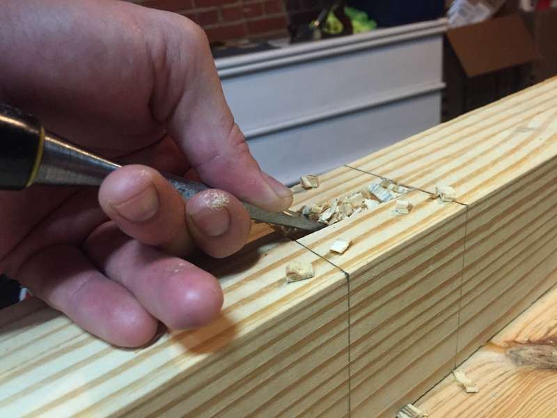 Clean out the mortise