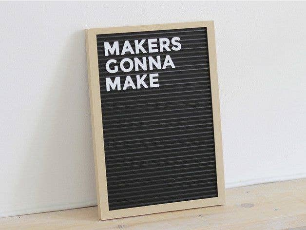 3D printed letterboard