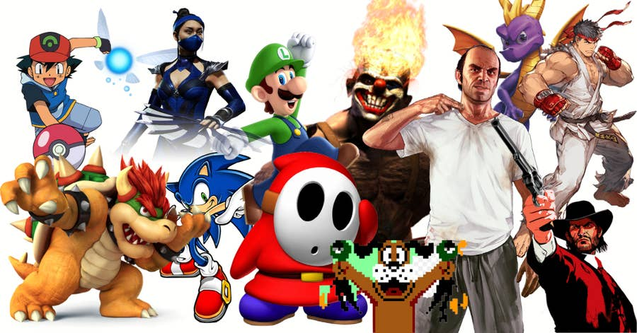 Video Game Character collage