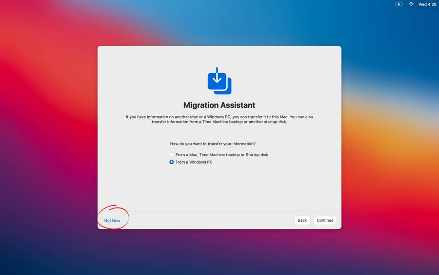 Use Migration Assistant