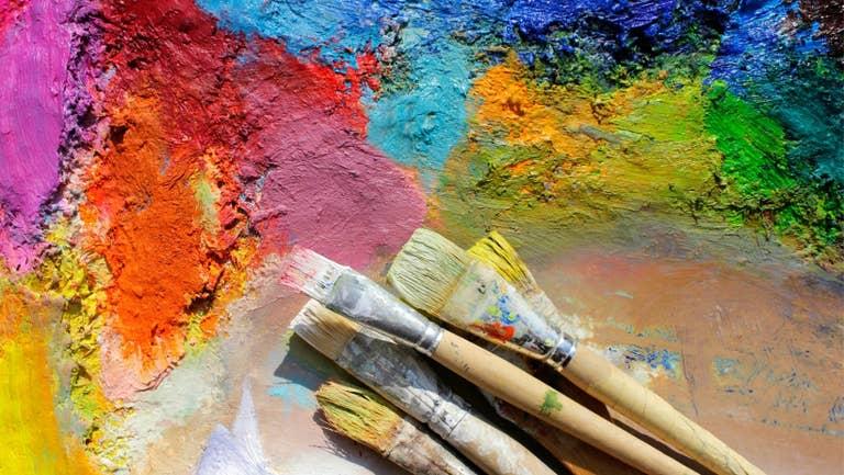Oil paintbrushes.