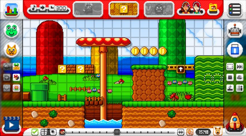 Super Mario Maker interface