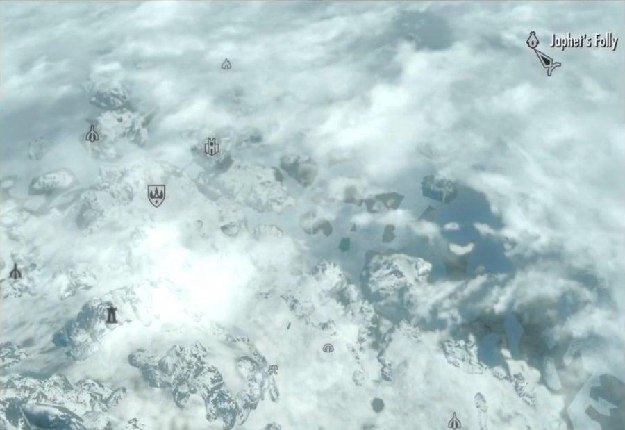 Skyrim Map Gameplay Image