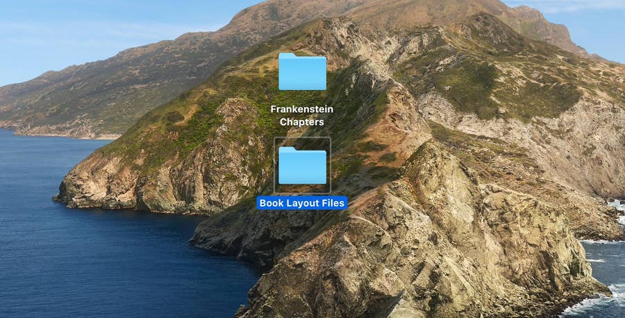 Two File Folders for InDesign Book Layout