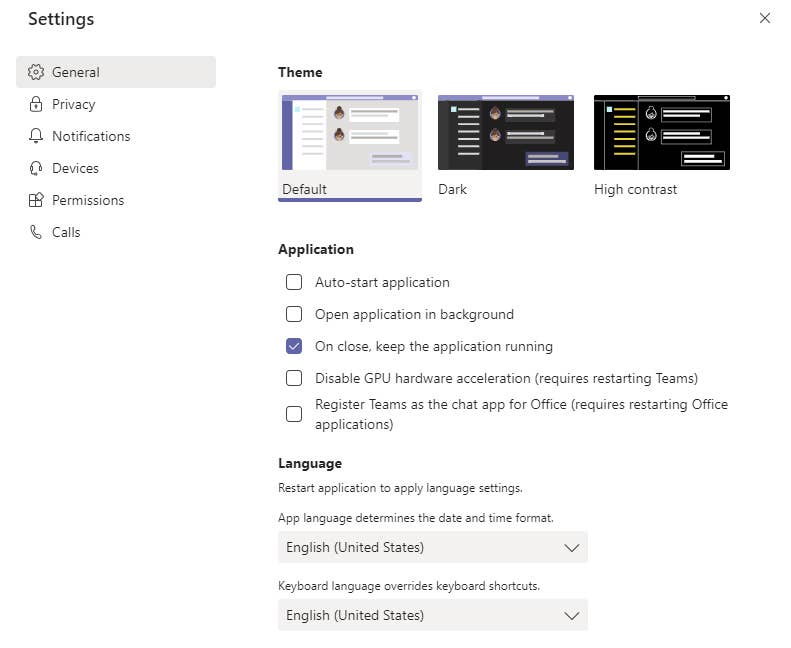 Disable Microsoft Teams