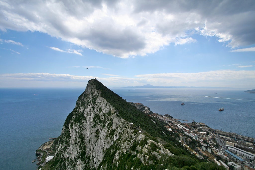 Modern day rock of Gibraltar