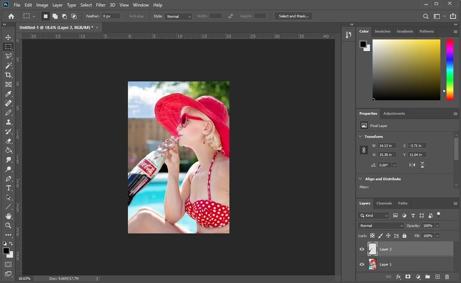 Photoshop Layer Resize