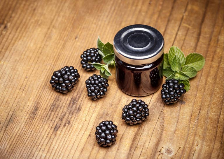 Blackberry simple syrup.