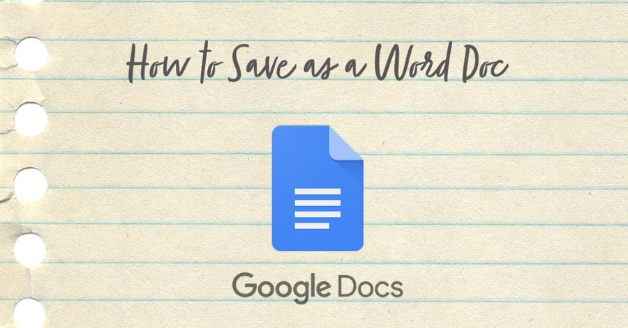 How to Save a Google Doc as a Word Doc