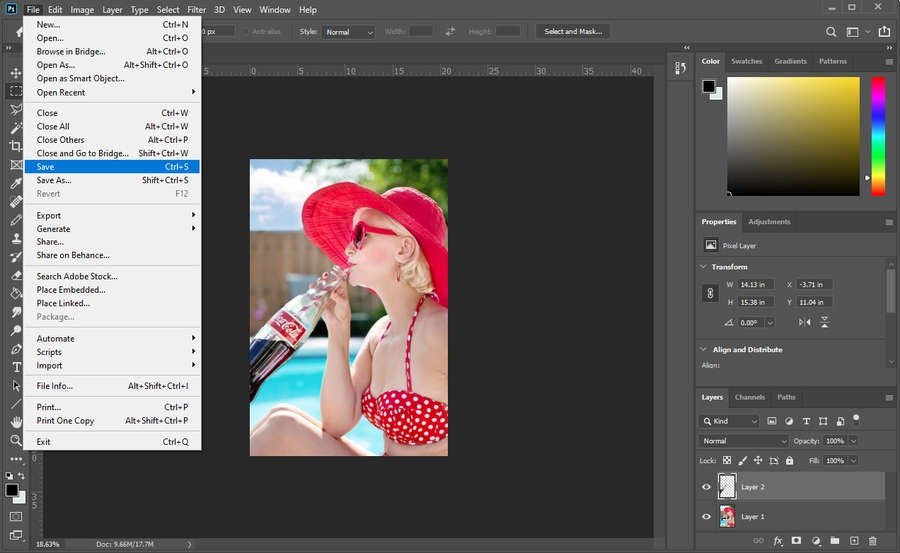 Photoshop Save Changes
