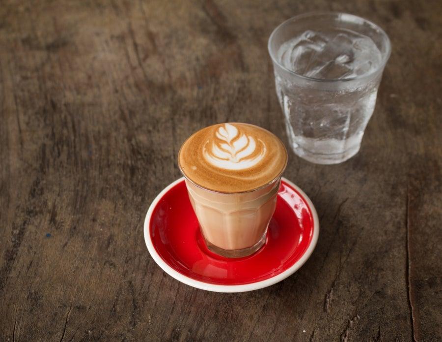 Tiny latte.