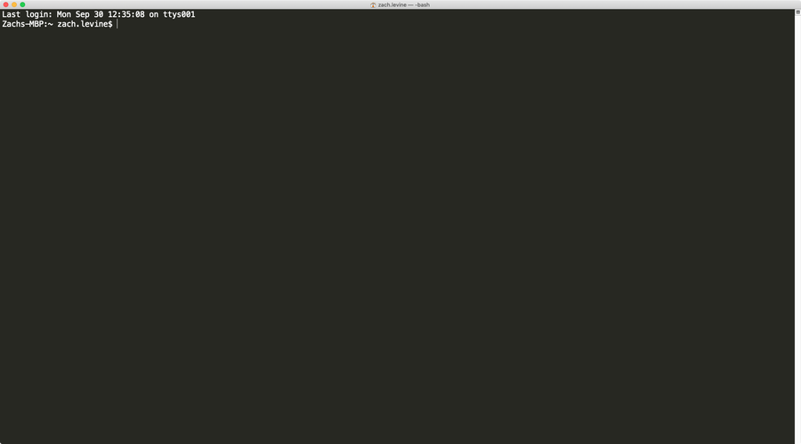 MacOS Terminal window