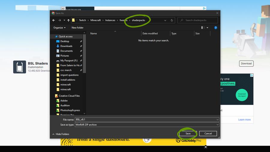 install shaders curseforge