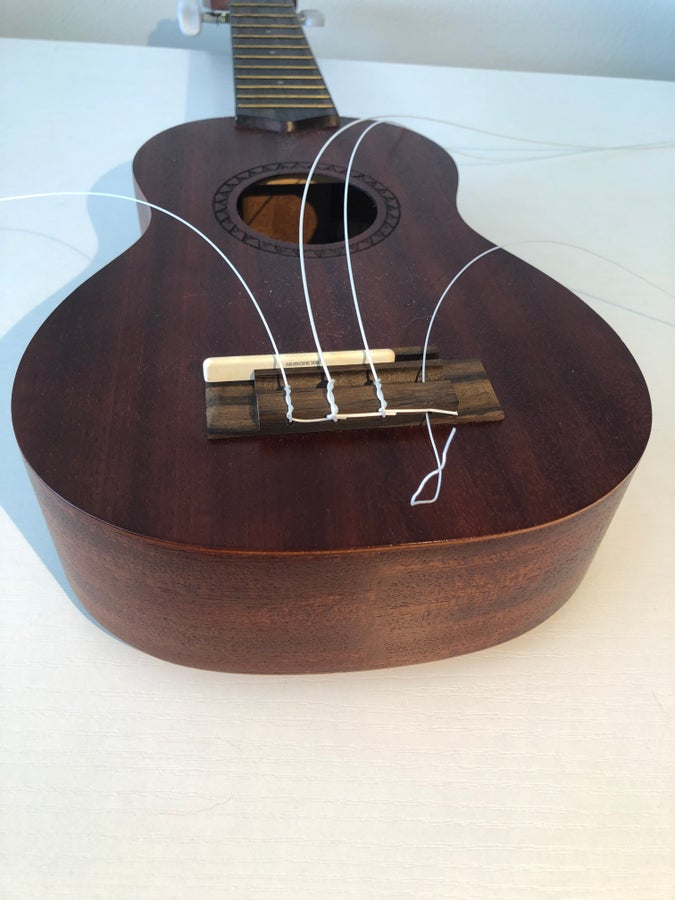 Ukulele strings unwound