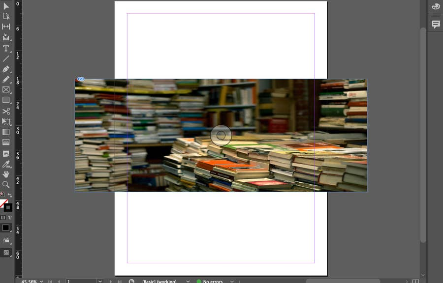 Image Outside of Page in InDesign