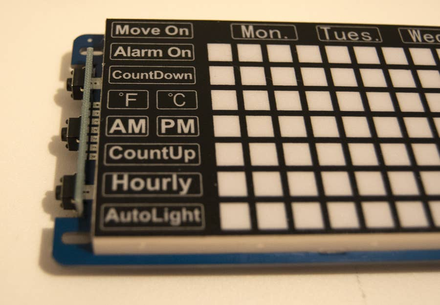 Waveshare Pico Clock Face Labels