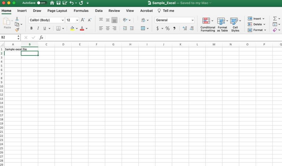 Excel file opened from Google Sheets