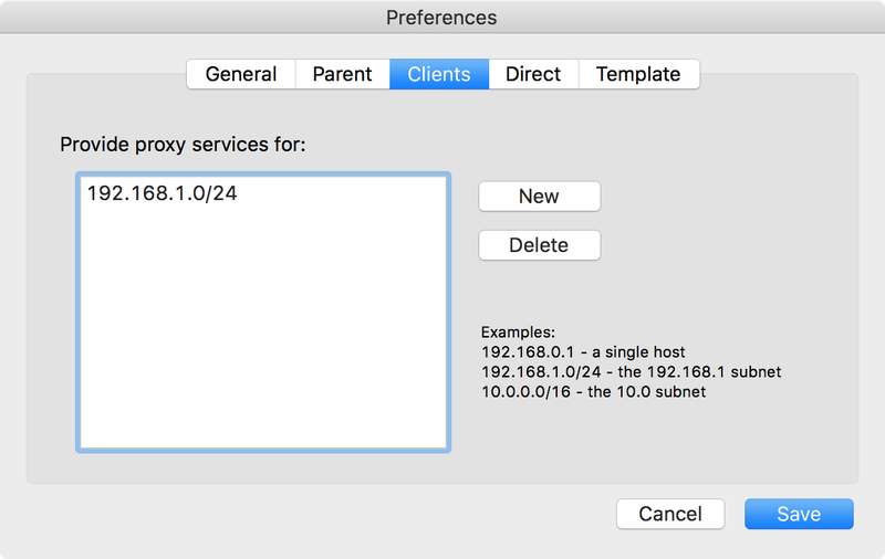 Enable the IP range for your client