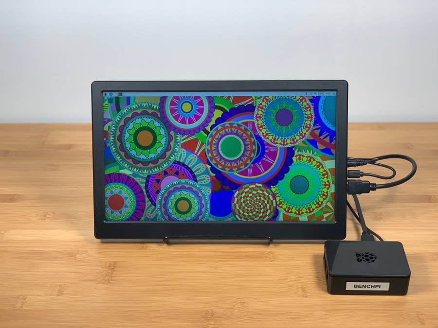 SunFounder 13.3-inch monitor on table