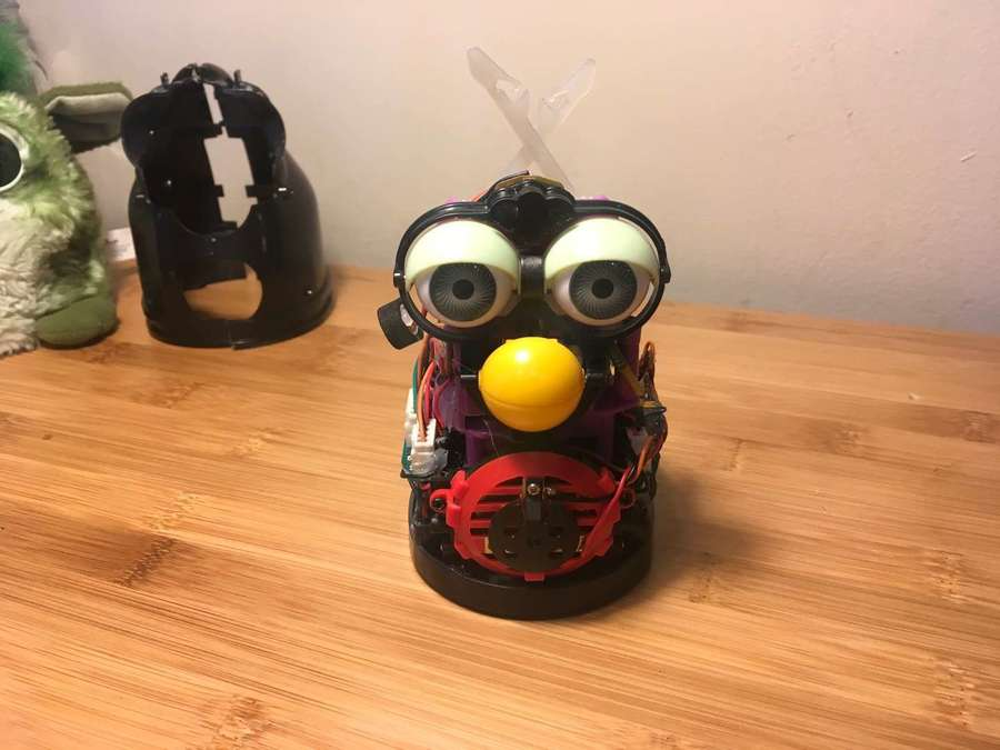 Disassembled Furby with no fur