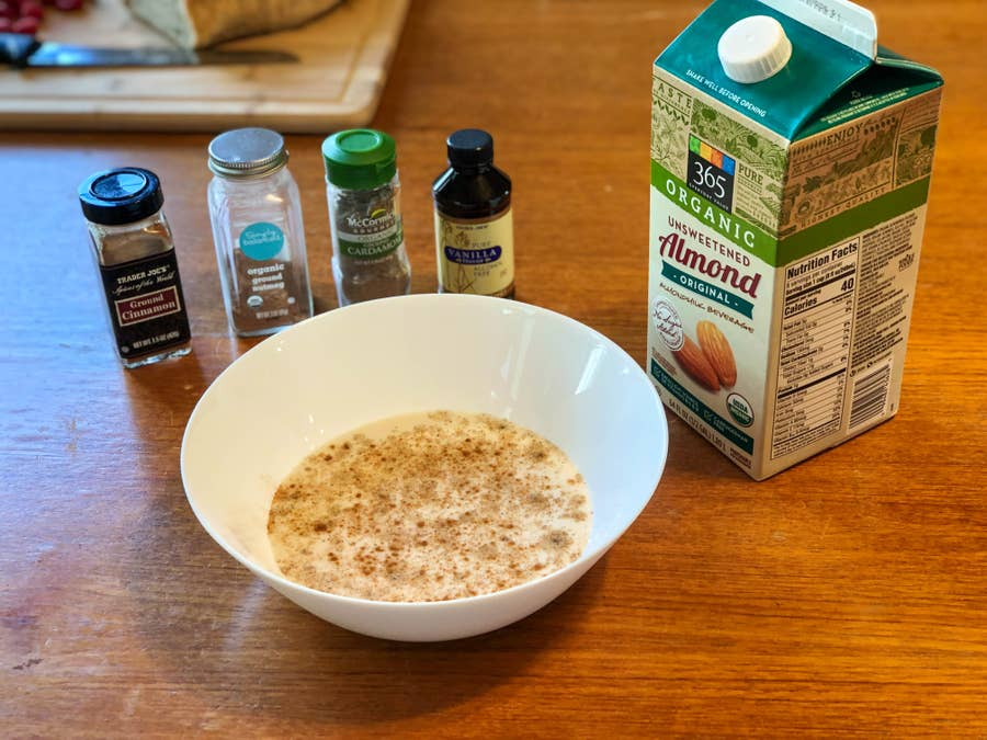 French Toast batter with ingredients