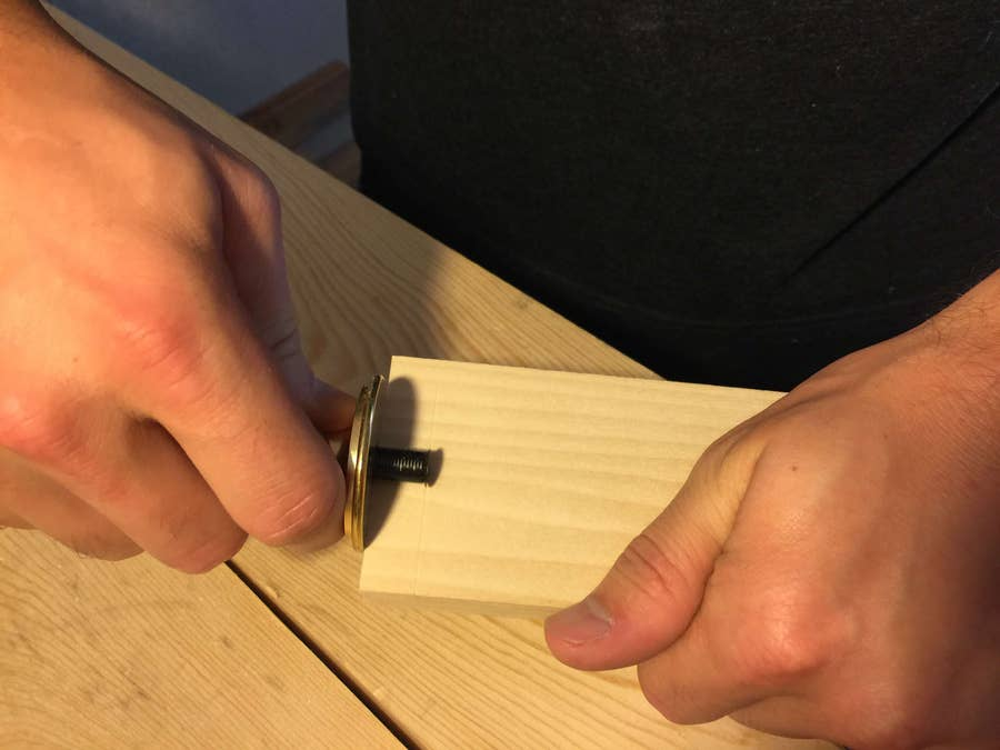 Measure the depth of the tail board and mark all four sides of the pin board