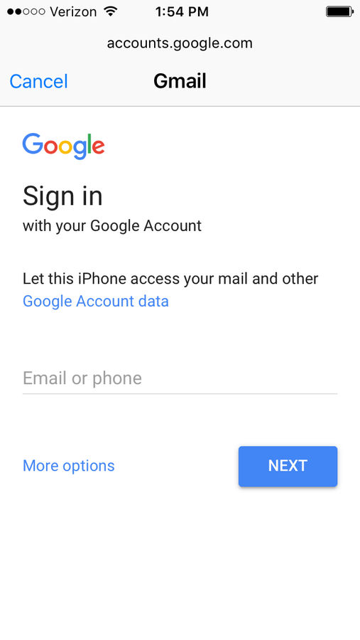 Add your new Gmail account to your iOS device