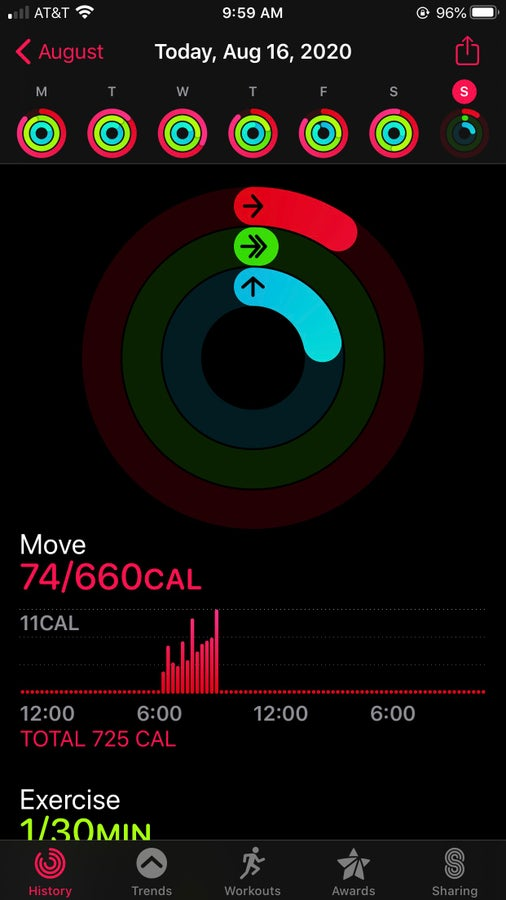 Check the Activity app to see if your workout has synced or not.