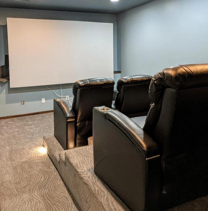 A DIY basement theater