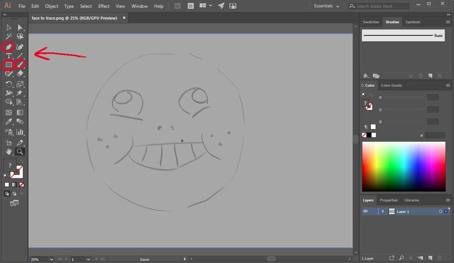 Illustrator Line Art Tools
