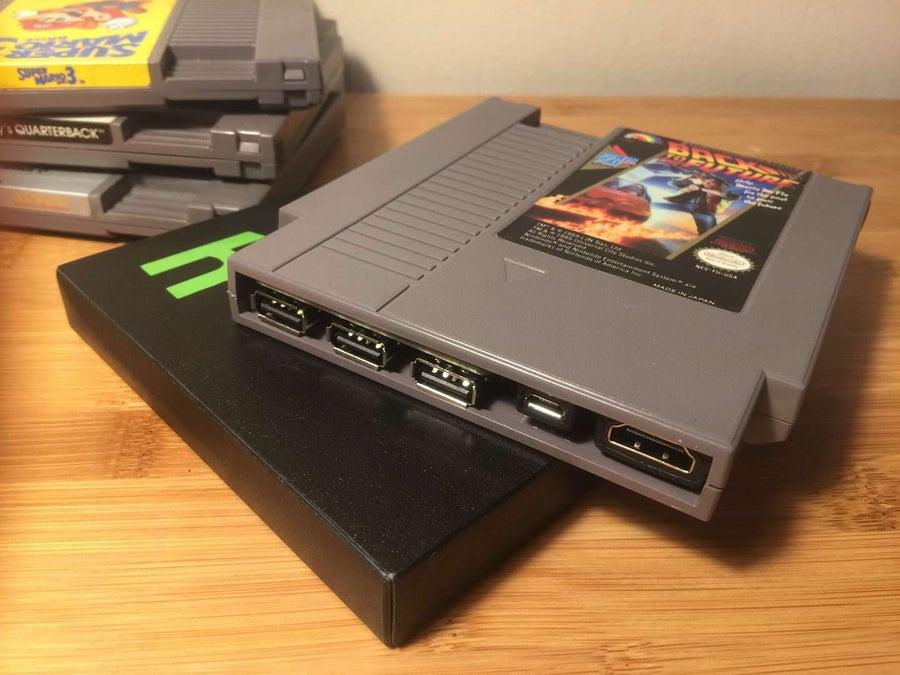 Pi Cart Raspberry Pi NES cartridge case