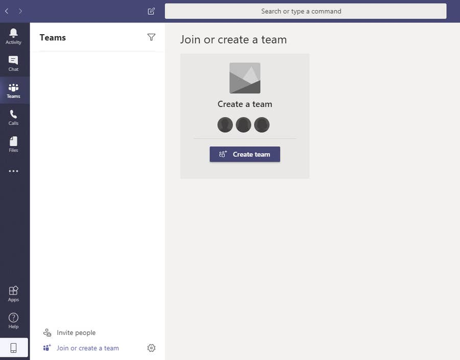 Create Team Microsoft Teams