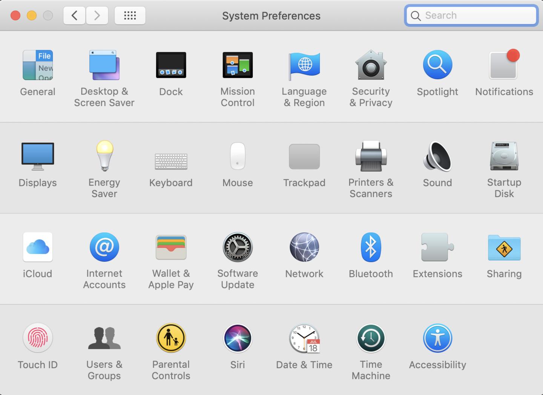 MacOS System Preferences Pane