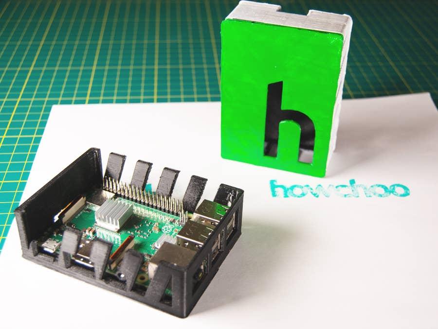 Raspberry Pi 3D Printed howchoo case