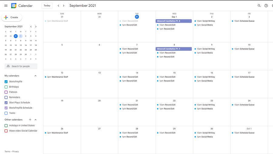 free content creation tool google calendar