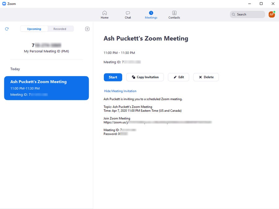 Zoom Meeting Invitation