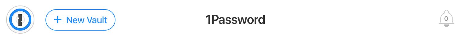 Add new vault in 1password