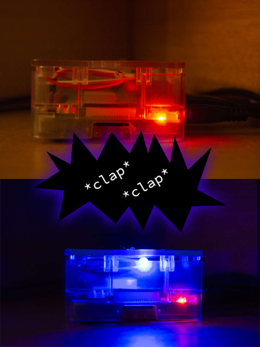 Raspberry Pi Clapper LED colors