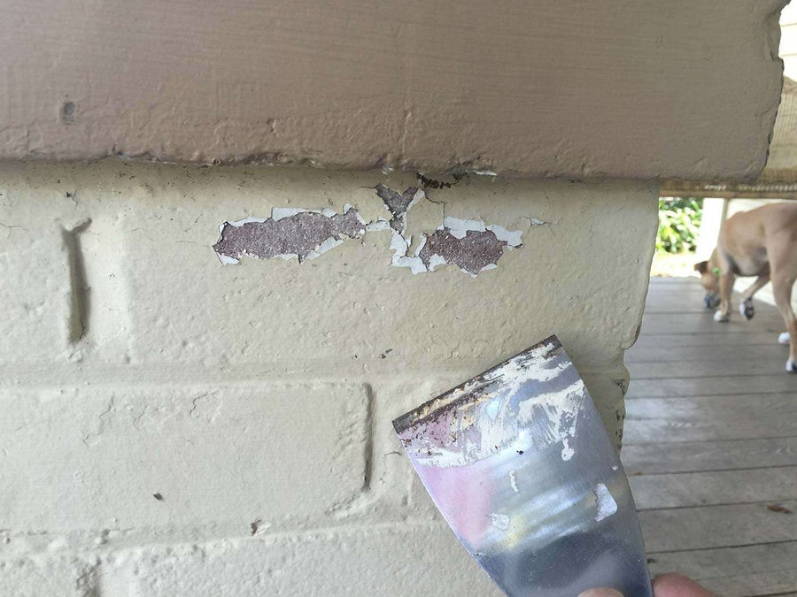 Testing a house for lead paint
