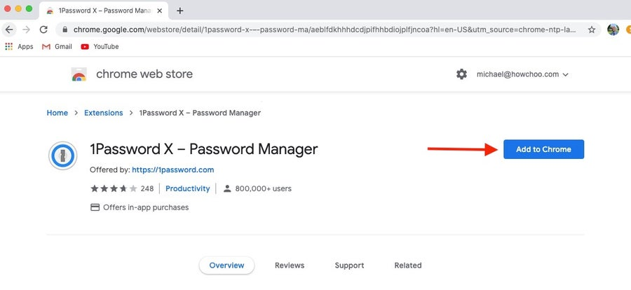 Add 1Password to Chrome