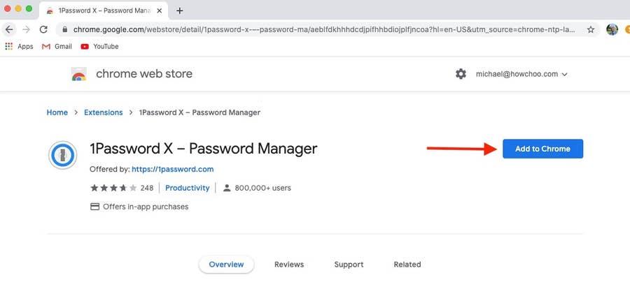 Add 1Password to Chrome