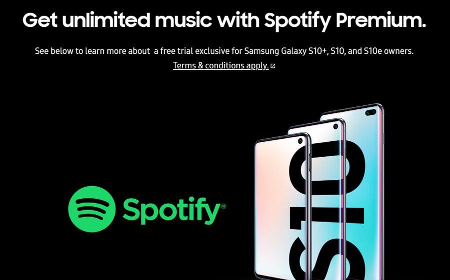 Free Spotify Premium Samsung Galaxy