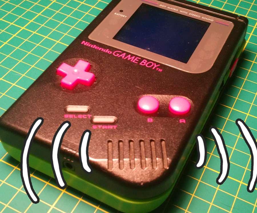 Backlight-modded Game Boy has speaker whine
