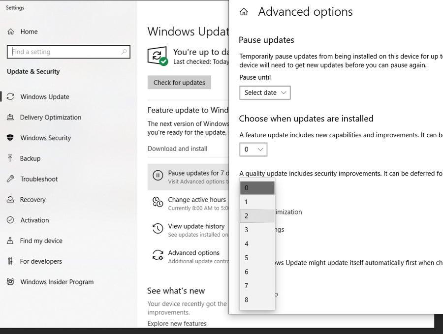 Windows 10 Update Schedule