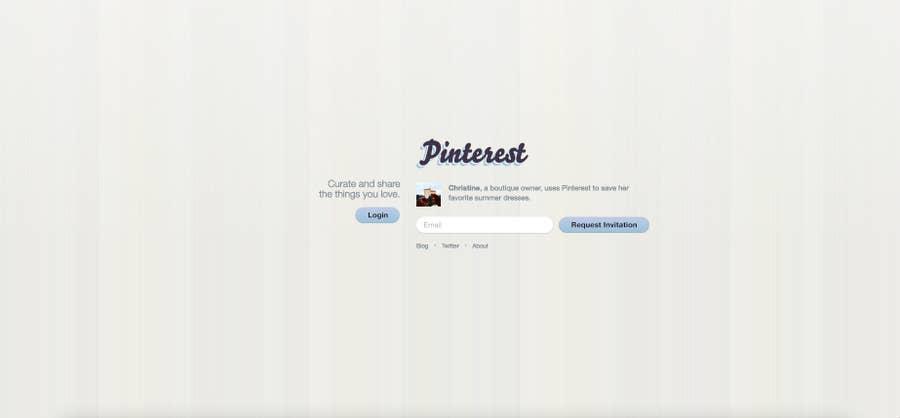 Pinterest homepage 2010